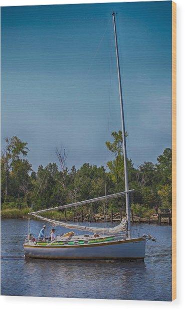 Sailing Wood Print by Christina Durity