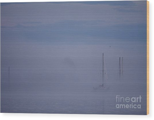 Sailing Mysterious Lake Superior Wood Print