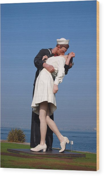 Sailor's Kiss Wood Print
