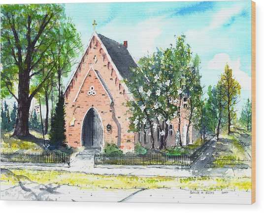 Saint Andrew's Episcopal Church Wood Print by Patrick Grills