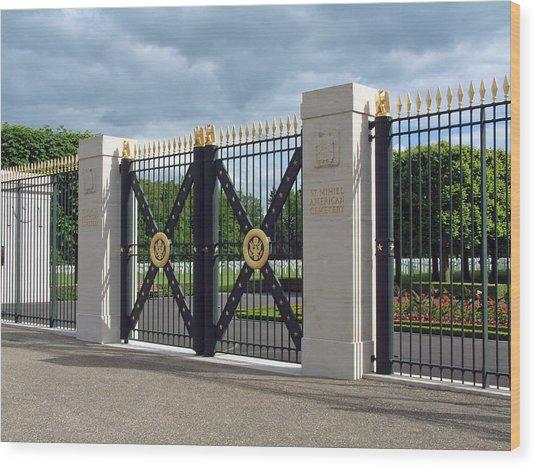Saint Mihiel Wwi American Cemetery  France Wood Print by Joseph Hendrix
