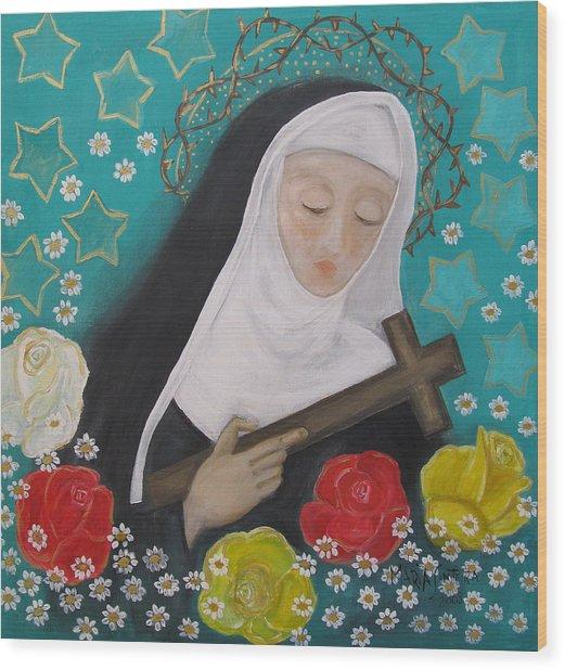 Saint Rita Wood Print by Maria Matheus Maria Santeira