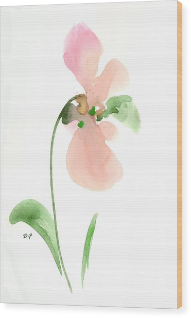 Salmon Flower Wood Print