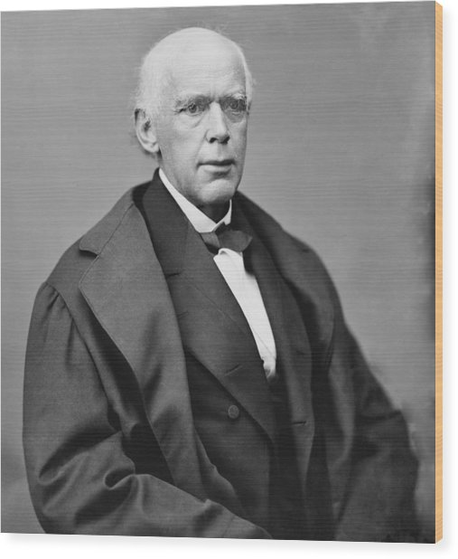 Salmon P. Chase 1808-1873, As Chief Wood Print by Everett