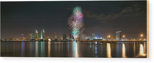 San Diego Summer Pops Fireworks 2012 Wood Print