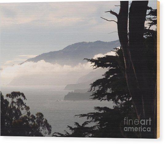 San Francisco Bay Fog Wood Print