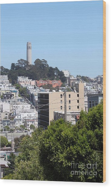 San Francisco Coit Tower Wood Print
