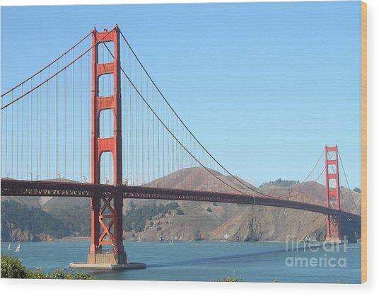San Francisco Golden Gate Bridge . 7d7802 Wood Print by Wingsdomain Art and Photography