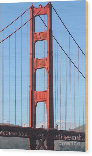 San Francisco Golden Gate Bridge . 7d7804 Wood Print by Wingsdomain Art and Photography