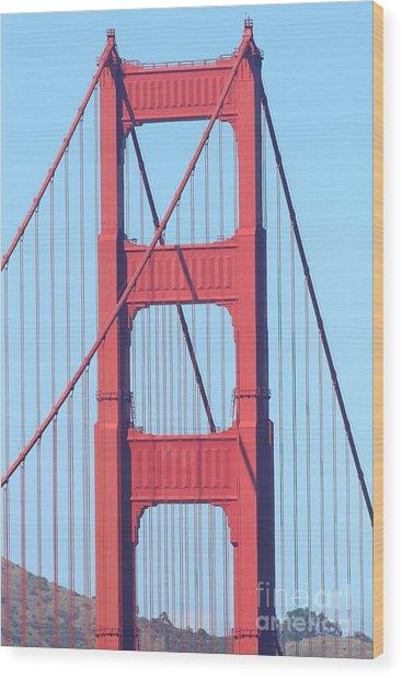 San Francisco Golden Gate Bridge . 7d7809 Wood Print by Wingsdomain Art and Photography