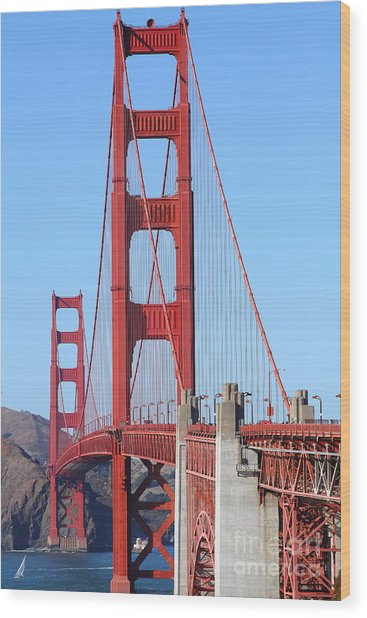 San Francisco Golden Gate Bridge . 7d8164 Wood Print by Wingsdomain Art and Photography