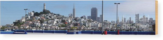 San Francisco Panorama Wood Print
