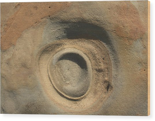 Sand And Rock Swirl Wood Print