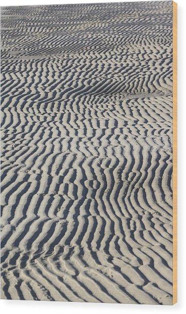 Sand Art Work Wood Print