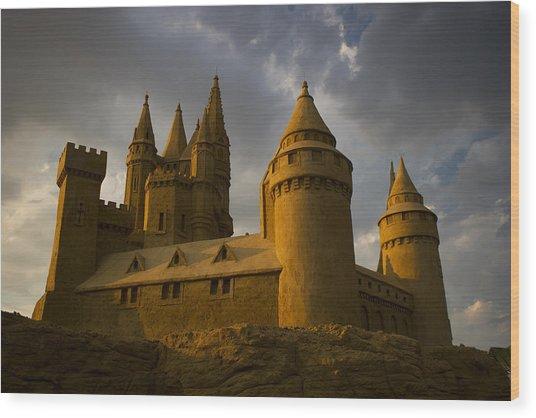 Sand Castle Horizontal Wood Print