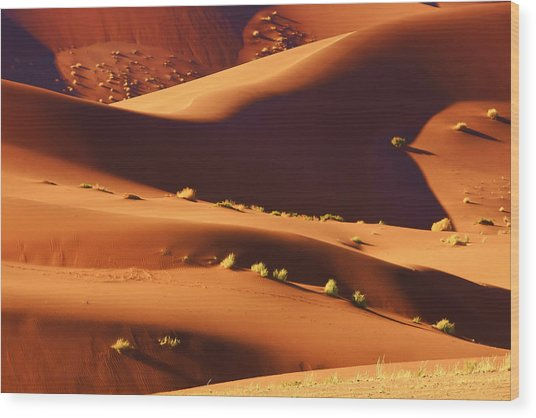 Sand Mountains Wood Print