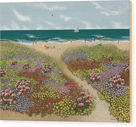 Sand Path Wood Print