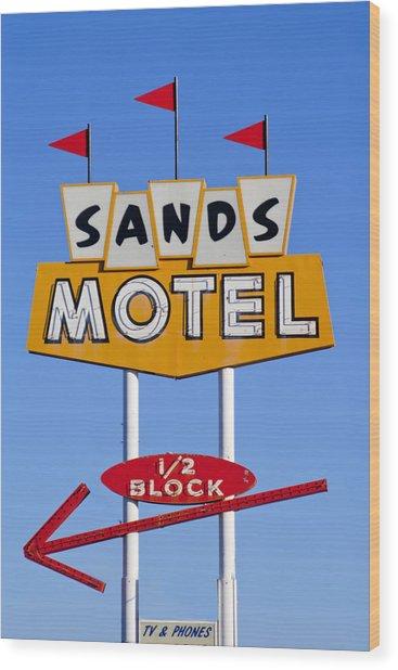 Sands Motel Wood Print
