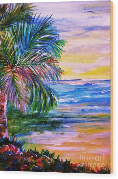 sandy beach 2 painting by sharon wood