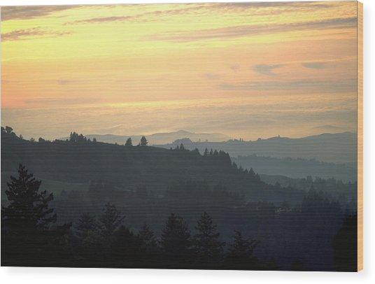 Santa Cruz Mountains Wood Print