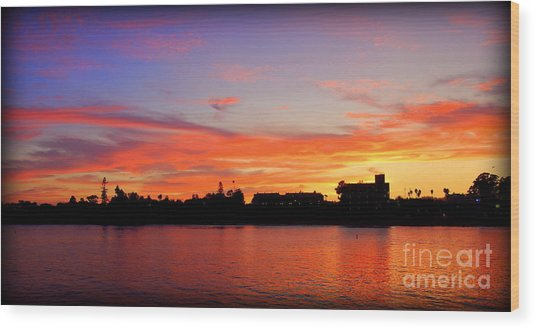 Santa Cruz Sunset 2 Wood Print
