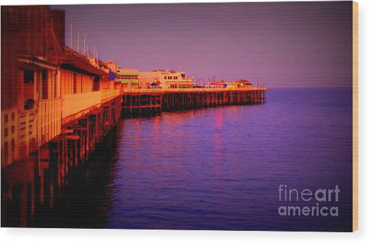 Santa Cruz Wharf Wood Print