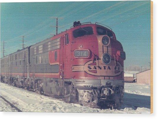 Santa Fe A And B Units At Gallup New Mexico Wood Print