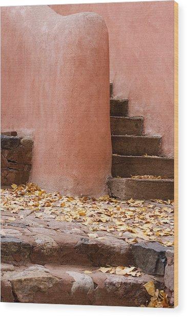 Santa Fe Adobe Wood Print by Denice Breaux