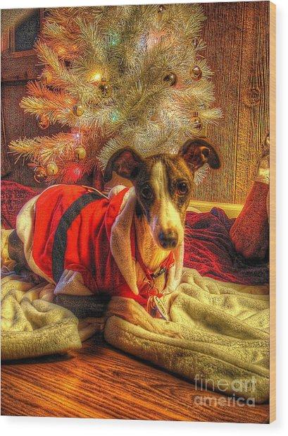 Santa I Wasn't All Bad Wood Print