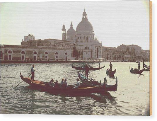 Santa Maria Della Salute Grand Canal Venice Wood Print
