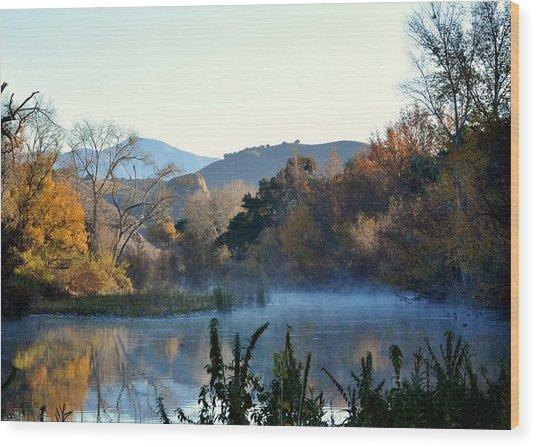Santa Ynez River Wood Print