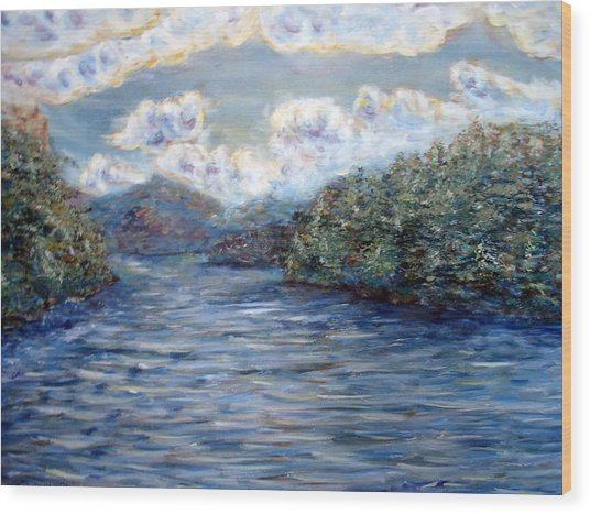 Saranac Lake On A Summer Evening Wood Print