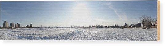Sarnia Bay In Winter Wood Print