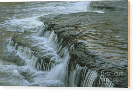 Sauble Falls Closeup Wood Print by Chris Hill