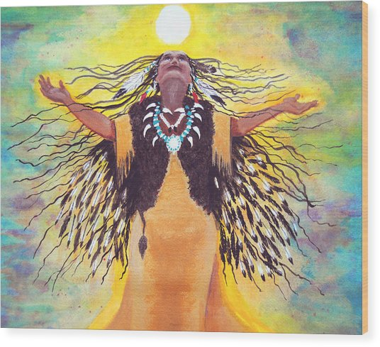 Saying Good Morning To The Sun Wood Print by Vallee Johnson