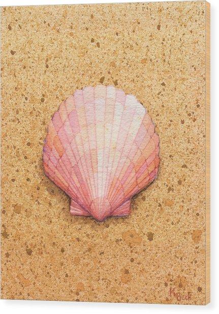 Scallop Shell Wood Print