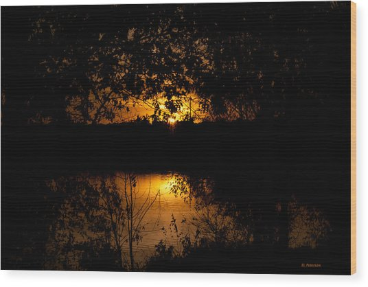 Scary Sunset Wood Print
