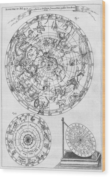 Sciathericon For Determining Time Wood Print by Middle Temple Library