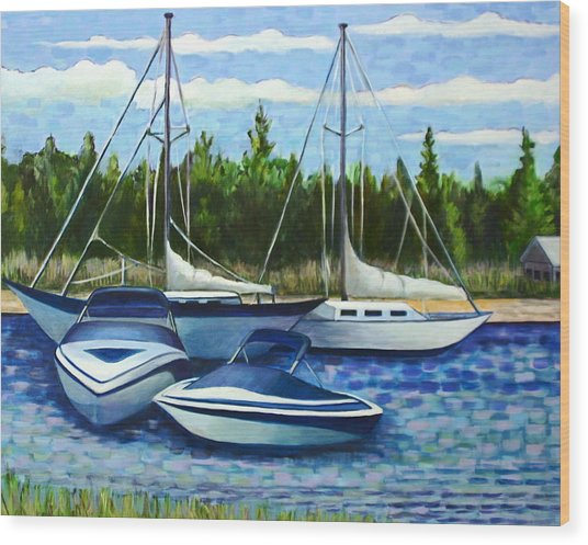Scituate Harbor Wood Print