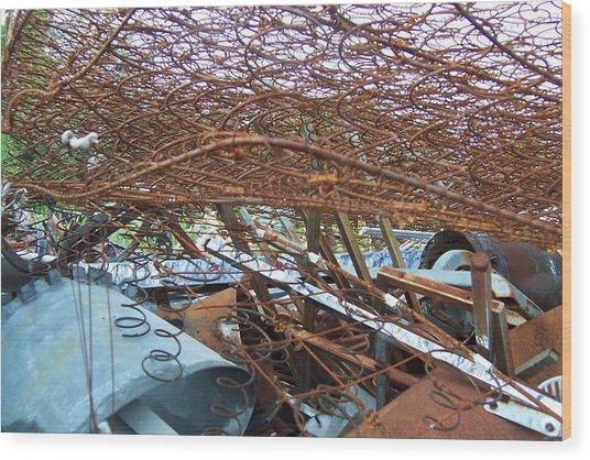 Scrap Yard Wood Print