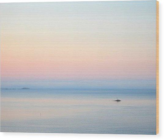 Sea Fog Wood Print