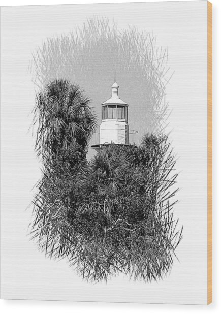 Sea Horse Key Light Wood Print
