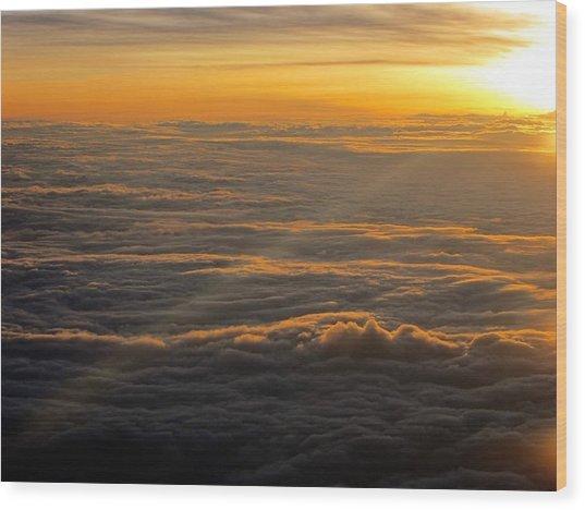 Sea Of Clouds Wood Print by Jyotsna Chandra