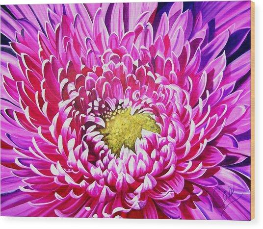 Sea Of Petals Wood Print by Karen Casciani