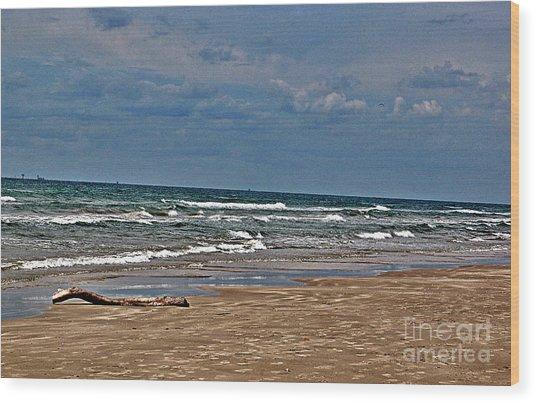 Sea Sand Wood Print by Ken Williams