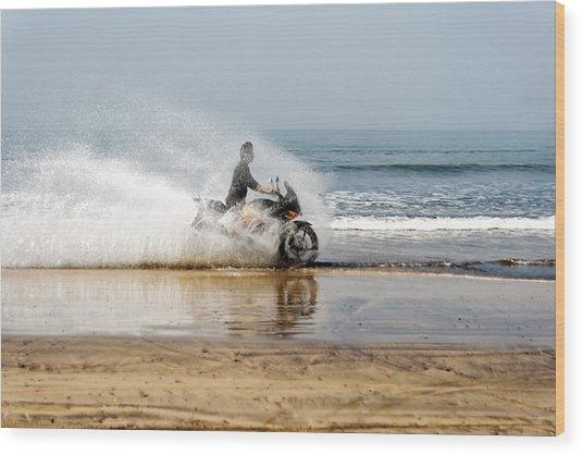Sea Spray Wood Print by Kantilal Patel