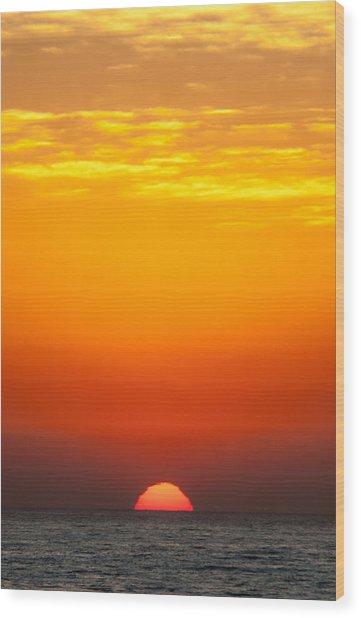 Sea Sunrise Wood Print