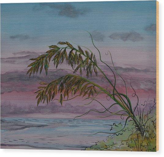 Seaoats Wood Print
