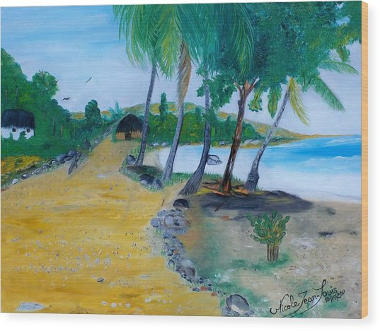 Seascape 1 Wood Print