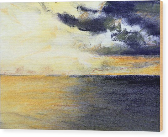 Seascape And Sky Wood Print by Jon Shepodd